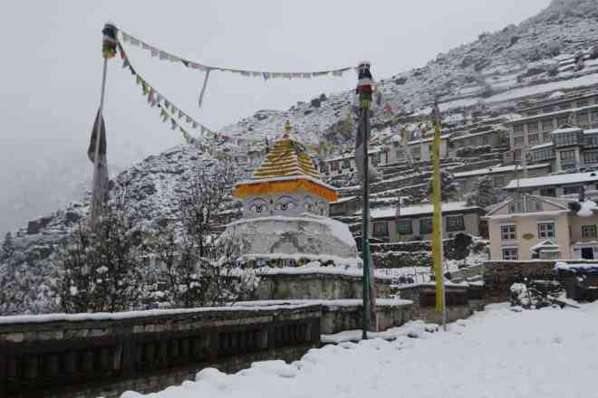 Snow Namche Bazaar Everest Base Camp