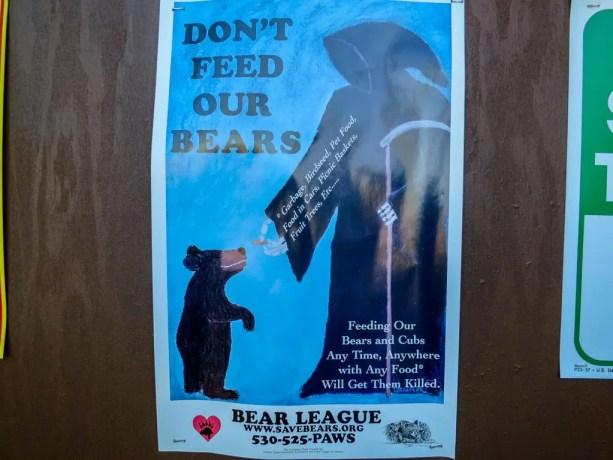 PCT Bear Death Sign