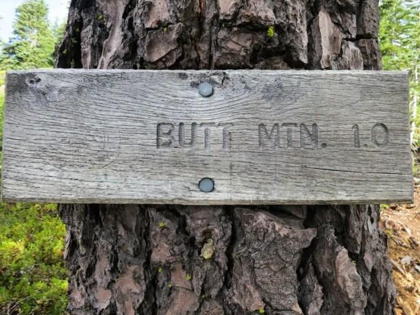 PCT Butt Mountain Sign