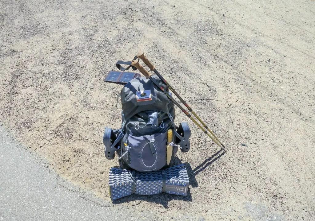 PCT Desert Backpack Roadside