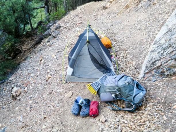 PCT NorCal Bad Campsite