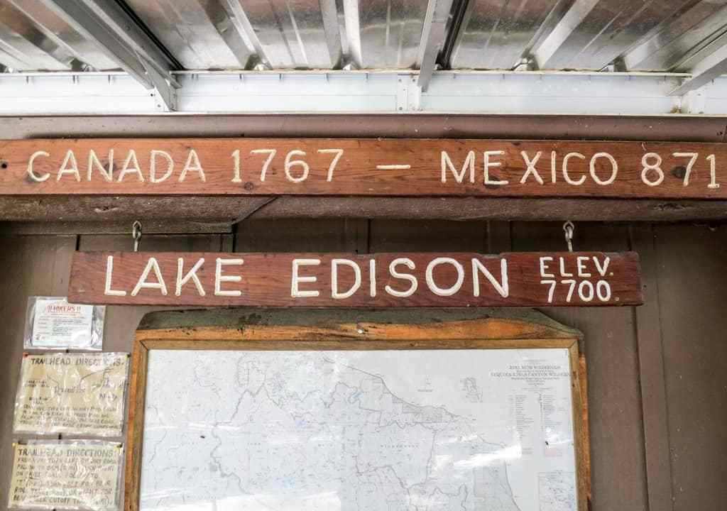 VVR Lake Edison PCT Sign
