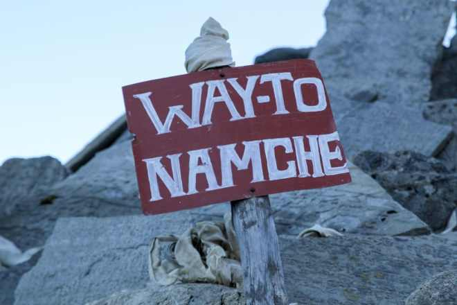 EBC Trek Namche Sign