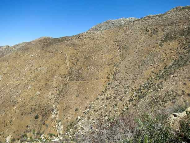 PCT California Desert Trail Mountainside