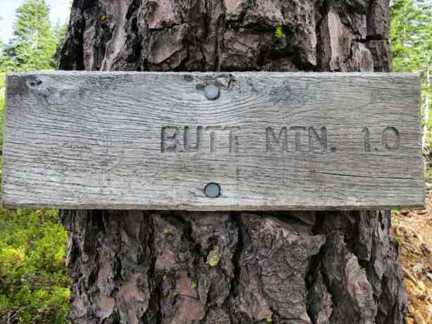 PCT NorCal Butt Mountain Sign