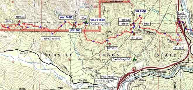 PCT NorCal California Section P Map