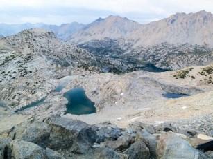 PCT Sierra Rae Lakes From Glen Pass