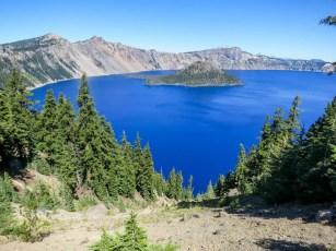 PCT Oregon Crater Lake Wizard Island