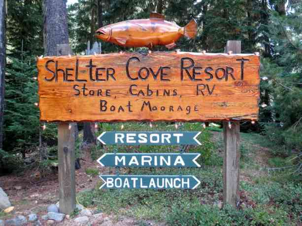 PCT Oregon Shelter Cove Sign