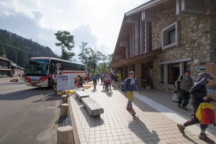 Japan-Mount-Haku-Hikers-Bus-Trailhead