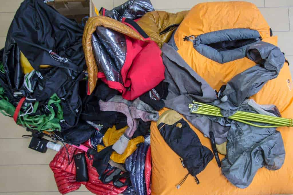 Three-Passes-Trek-Gear-Pile