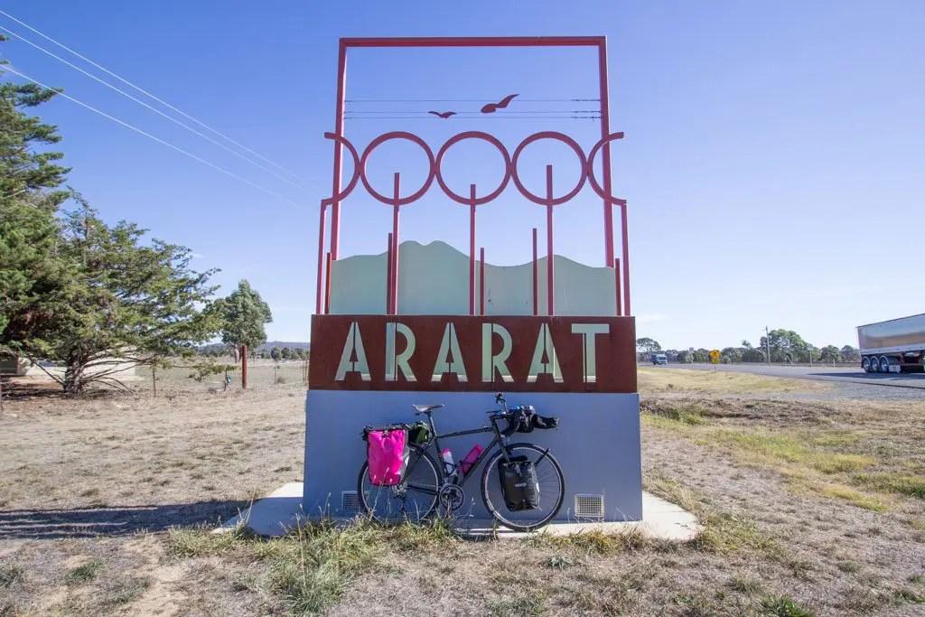 Australia-Bicycle-Ararat-Sign