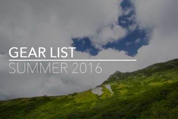 Backpacking Gear List (Summer 2016)