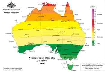 Australia-Map-June-UV-Index