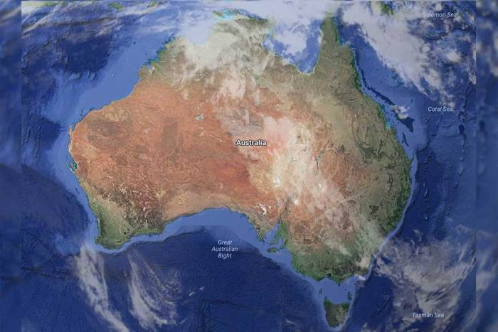 Australia-Earth-Map