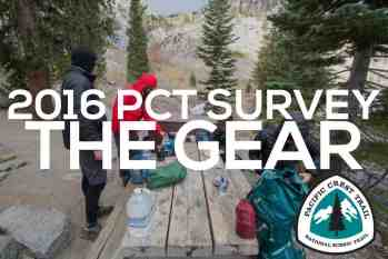 PCT Class of 2016 Survey: The Gear Guide