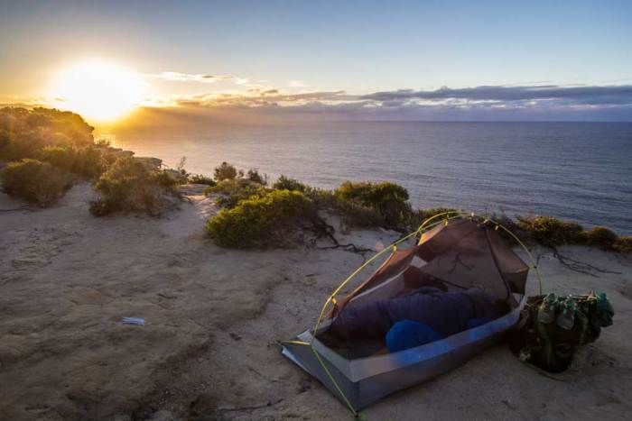 Royal-Coast-Track-Tent-Sunrise