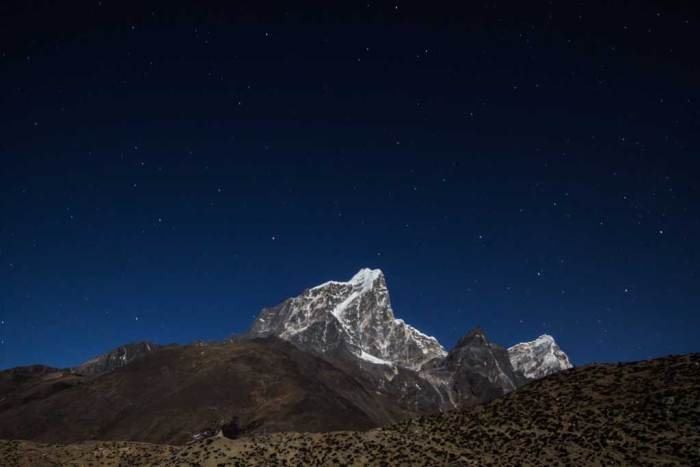 Nepal-Dingboche-Night-Mountain-View