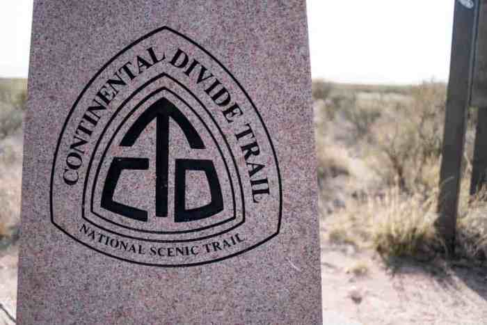 Continental Divide Trail Southern Terminus Closeup