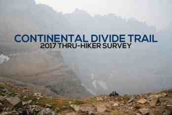 The Continental Divide Trail Thru-Hiker Survey (2017)