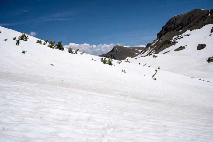 CDT-Colorado-Snowfield-Hiking-Blue-Sky
