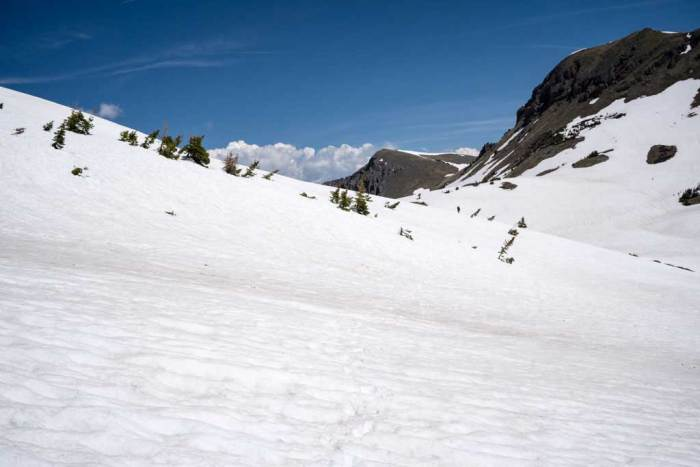 CDT-Colorado-Snowfield-Hiking-Blue-Sky