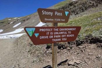 CDT-Colorado-Stony-Pass-Sign