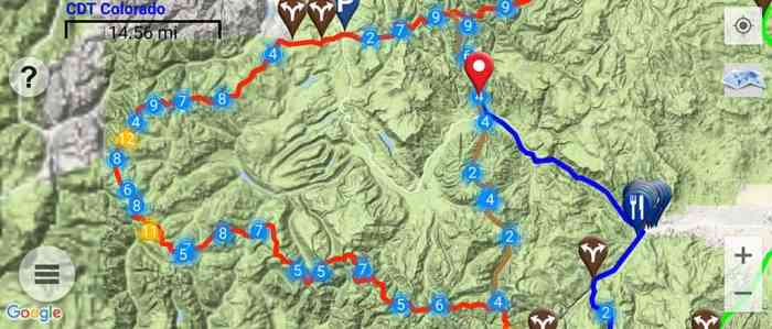 CDT-Creede-Cutoff-Guthook-Screenshot