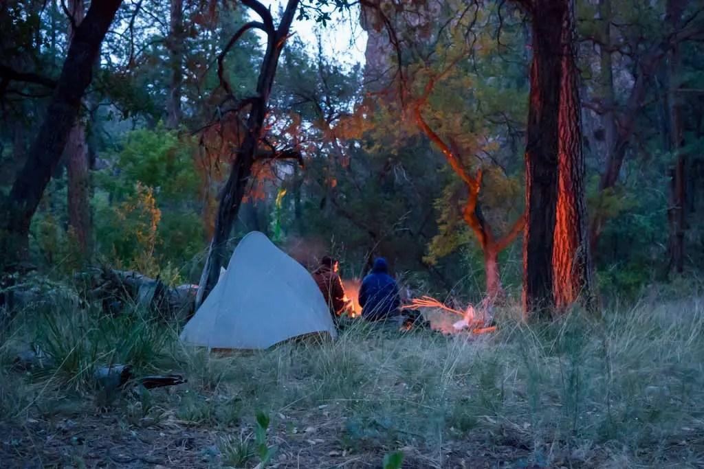 CDT-New-Mexico-Gila-Appa-Moist-Campsite-Night