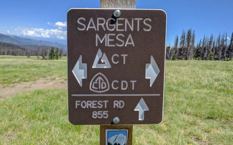 CDT Colorado Sargents Mesa Sign