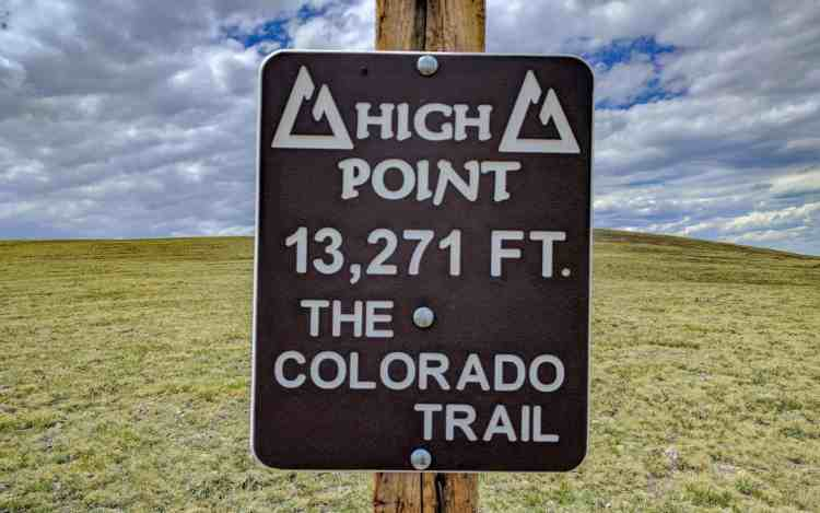 Colorado Trail High Point Sign