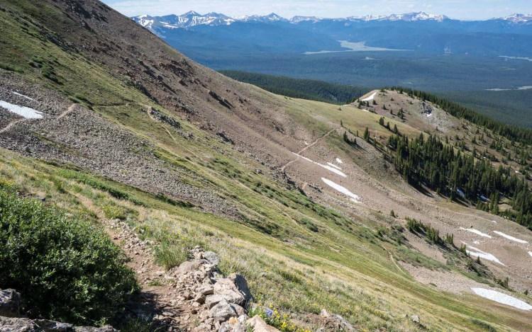CDT Colorado Lake Anne Pass Switchbacks