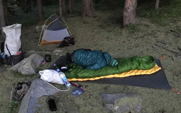 CDT Colorado Camp Sleeping