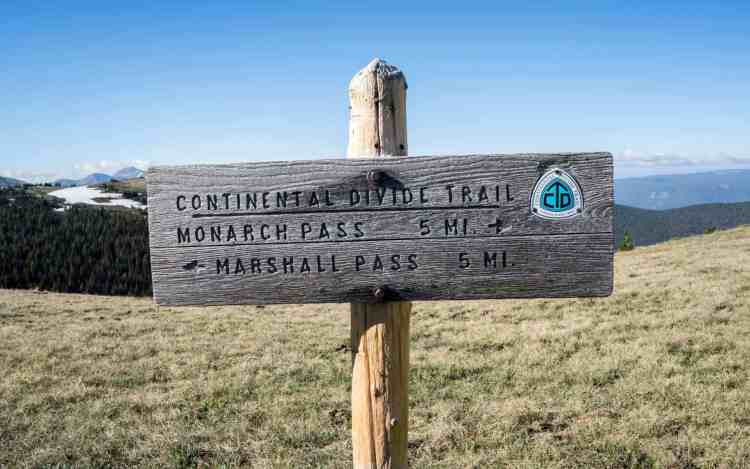 CDT Colorado Trail Sign