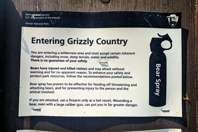 CDT Montana Bear Sign