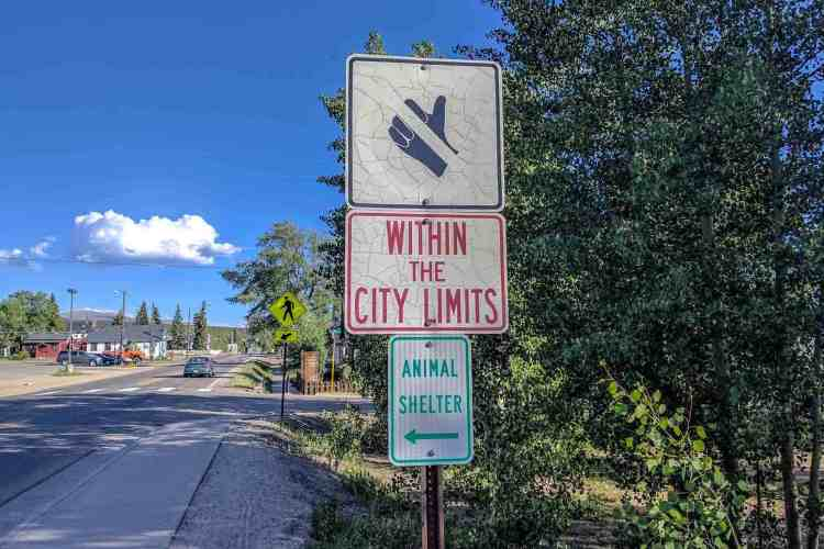 CDT Colorado Leadville Sign
