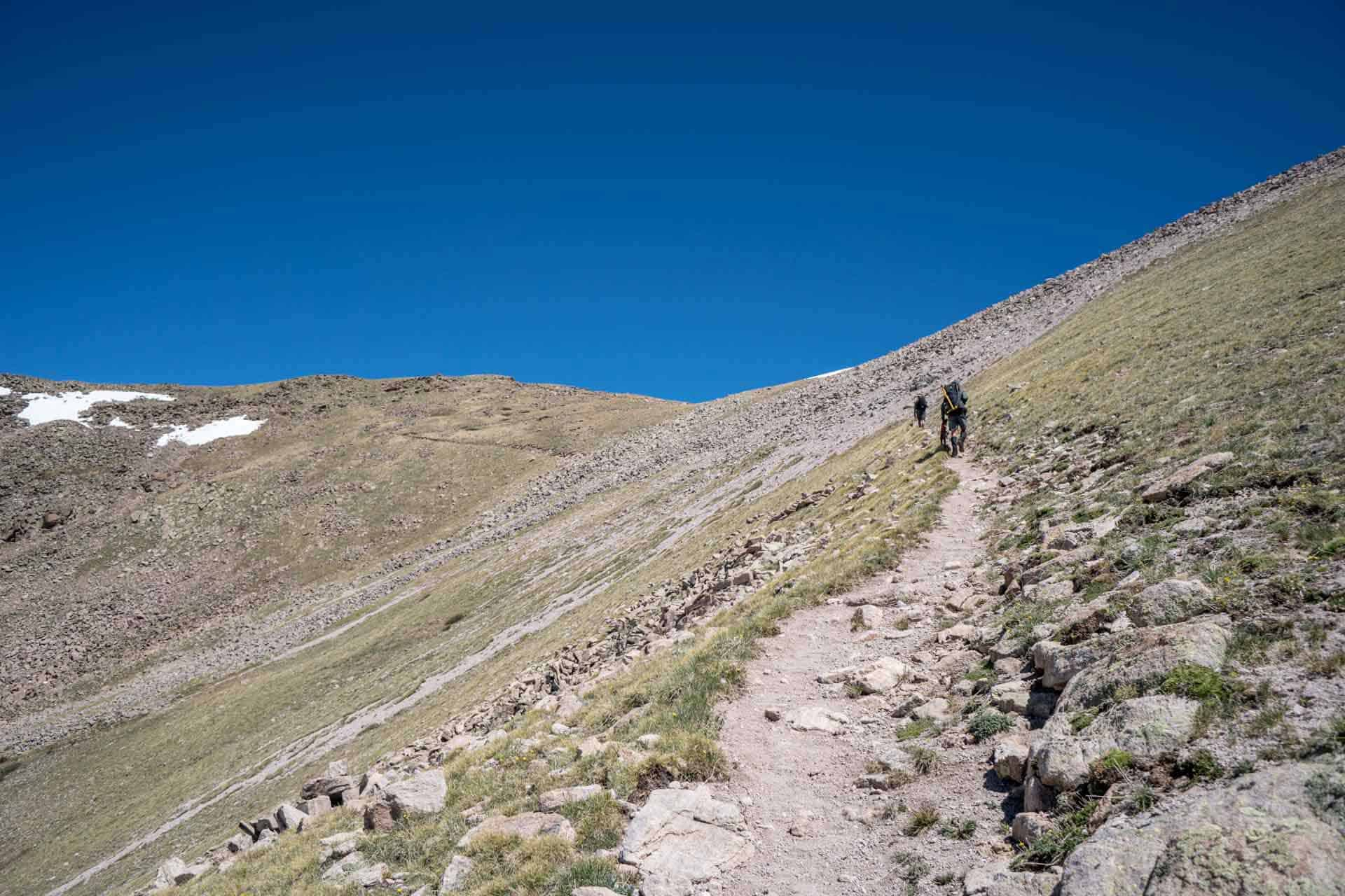 CDT Colorado San Juan Mountains Appa Moist Dry Trail