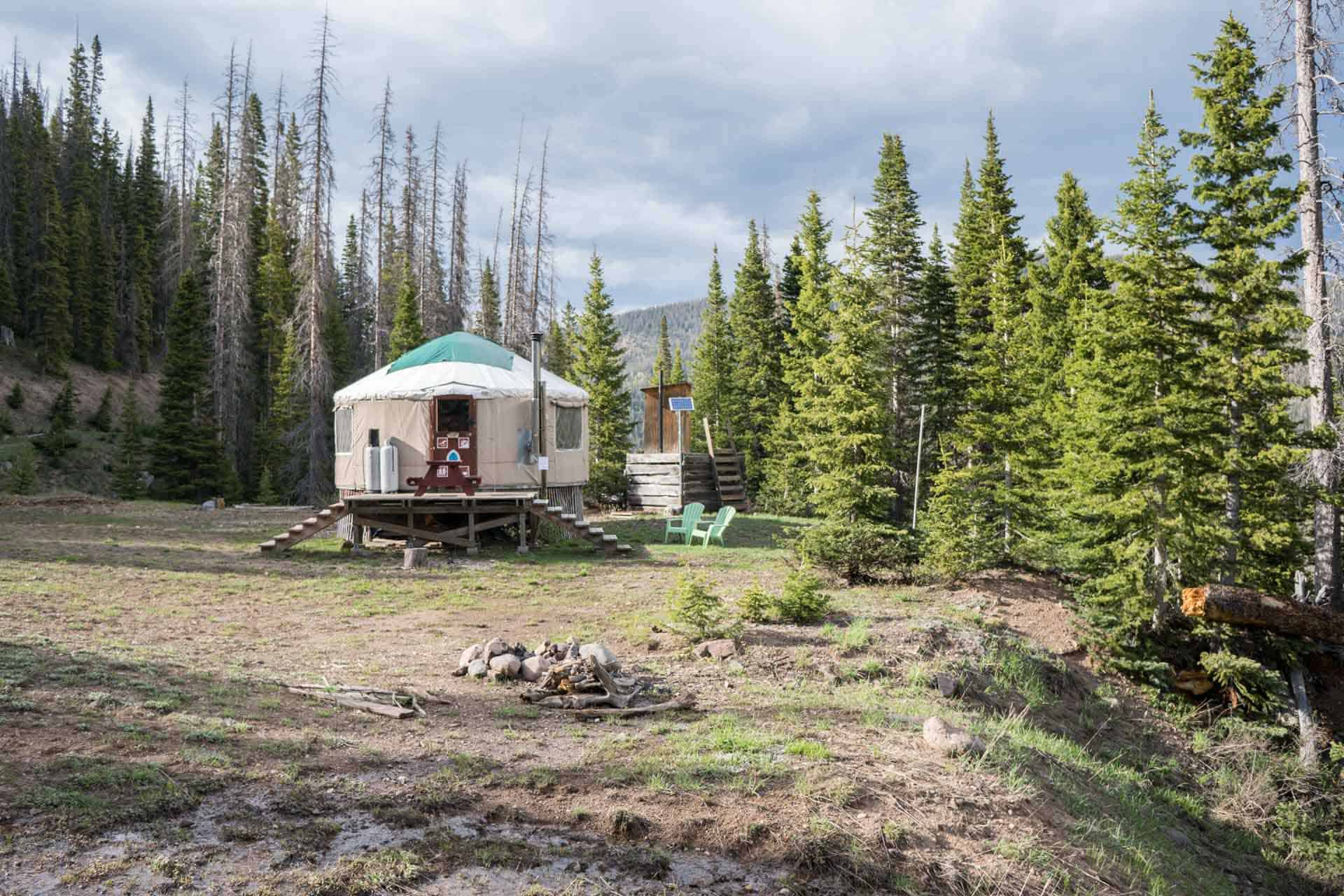 CDT Colorado San Juan Mountains Yurt 1