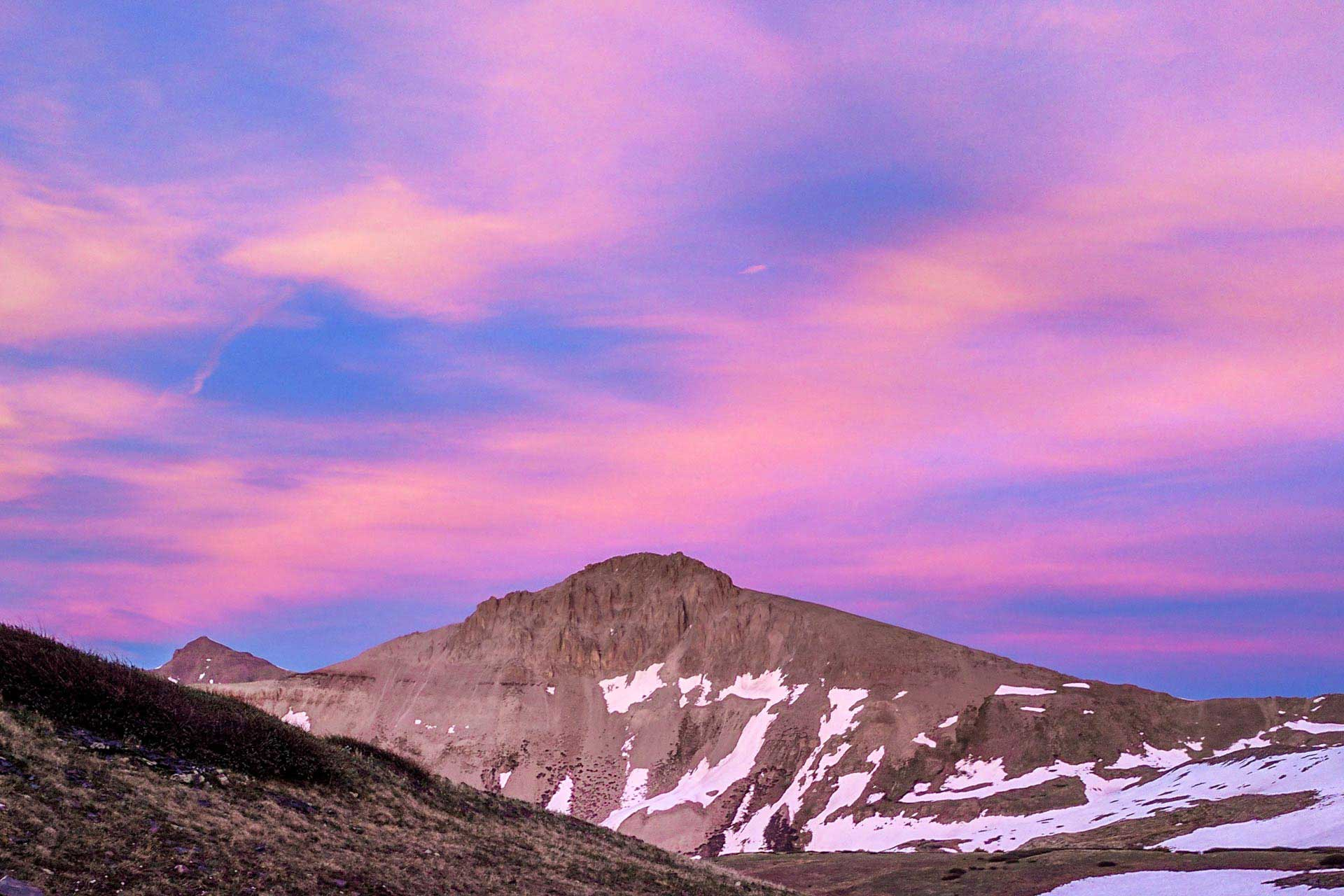 CDT Colorado San Juan Mountains Pink Sunset