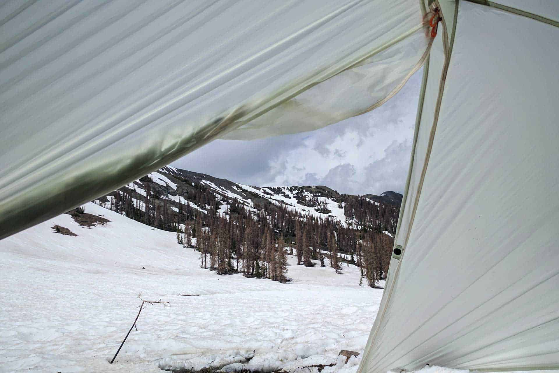 CDT Colorado San Juan Mountains Tent Door
