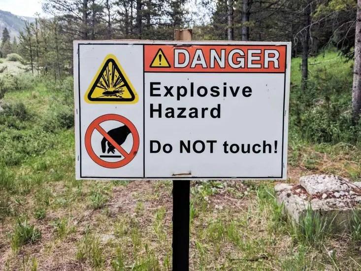 CDT Colorado Explosive Sign
