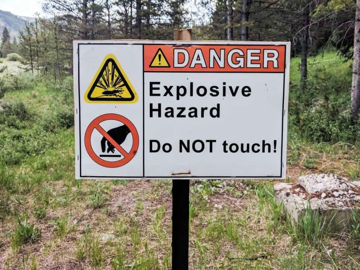 CDT Colorado Explosive Sign