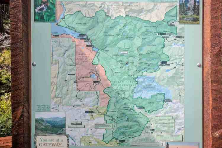 CDT Colorado Map