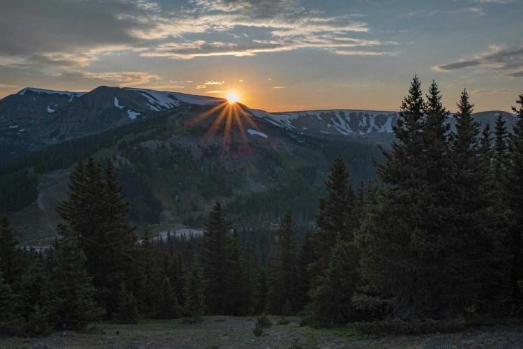 CDT Colorado Winter Park Sunset