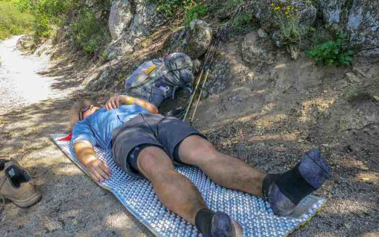 PCT Desert Hiker Laying Down