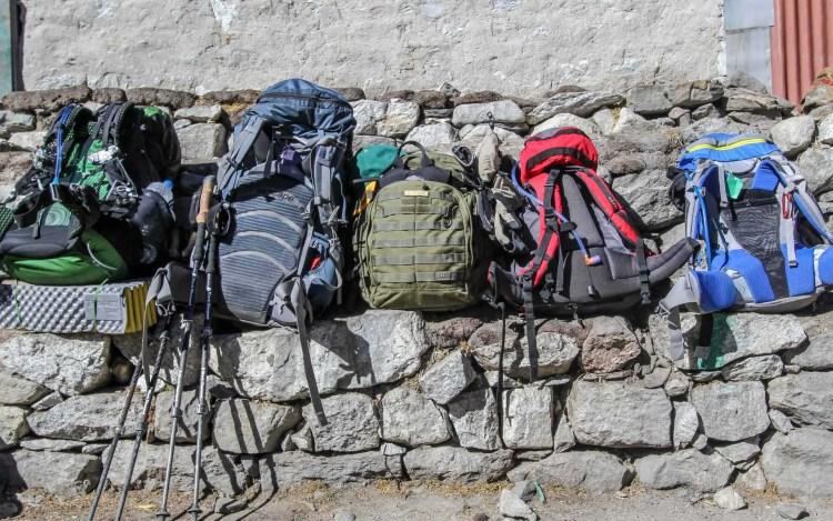 Row of Backpacks