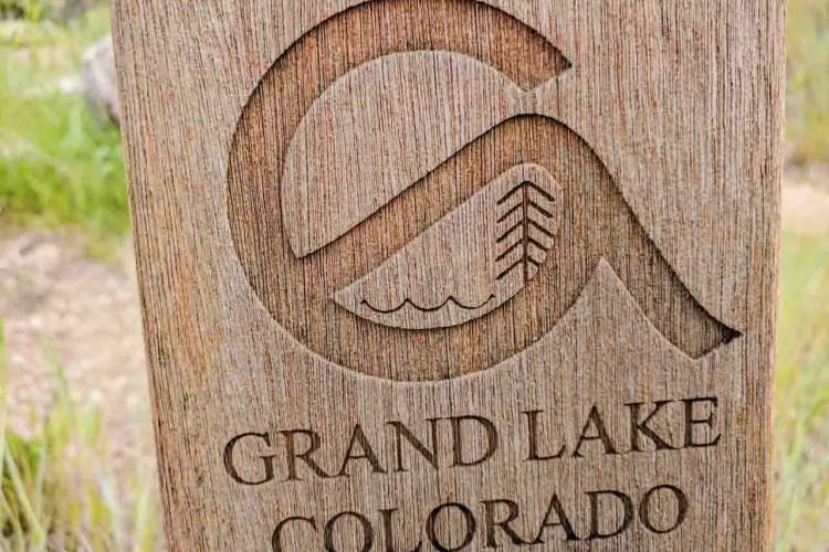 CDT Colorado Grand Lake Sign