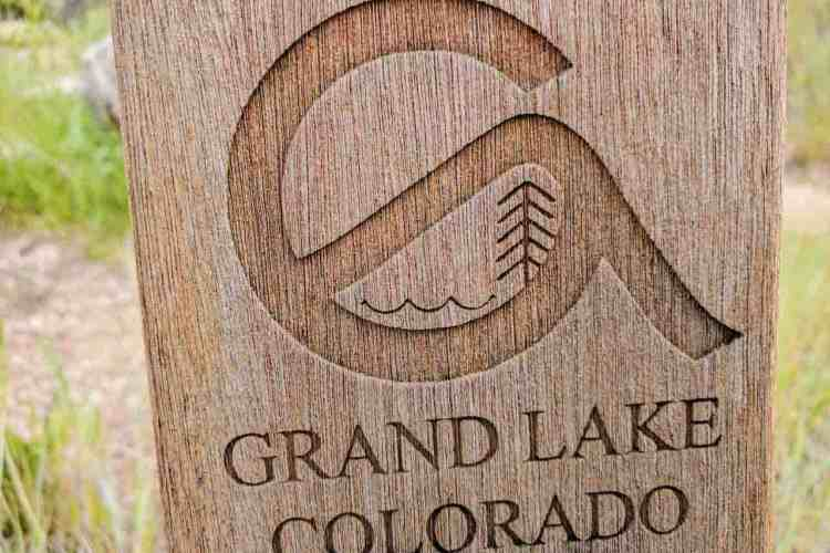 CDT Colorado Grand Lake Sign