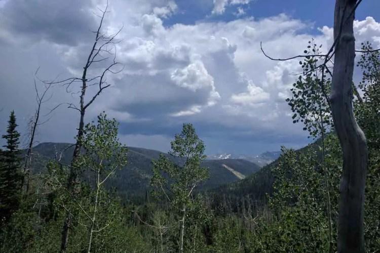 CDT Colorado Mount Zirkel Wilderness Clouds