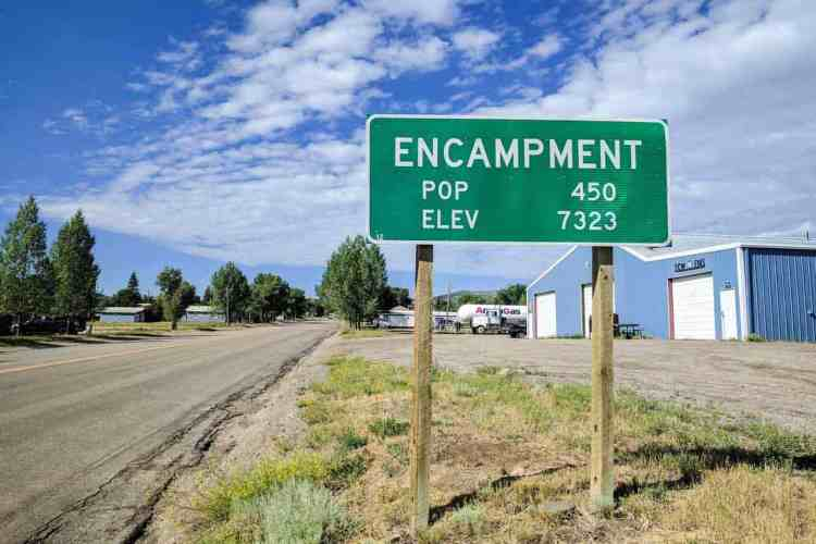 CDT Wyoming Encampment Population Sign